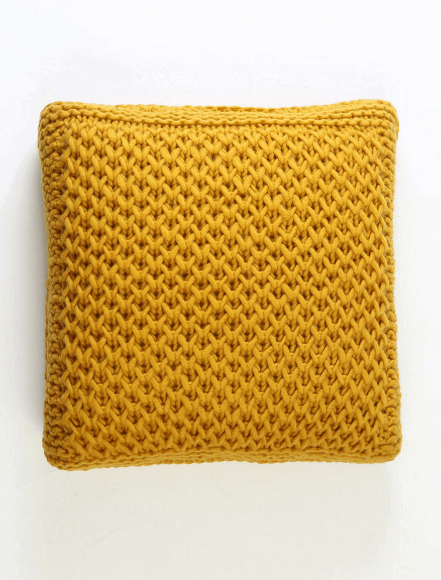 Bulky Light mustard cushion
