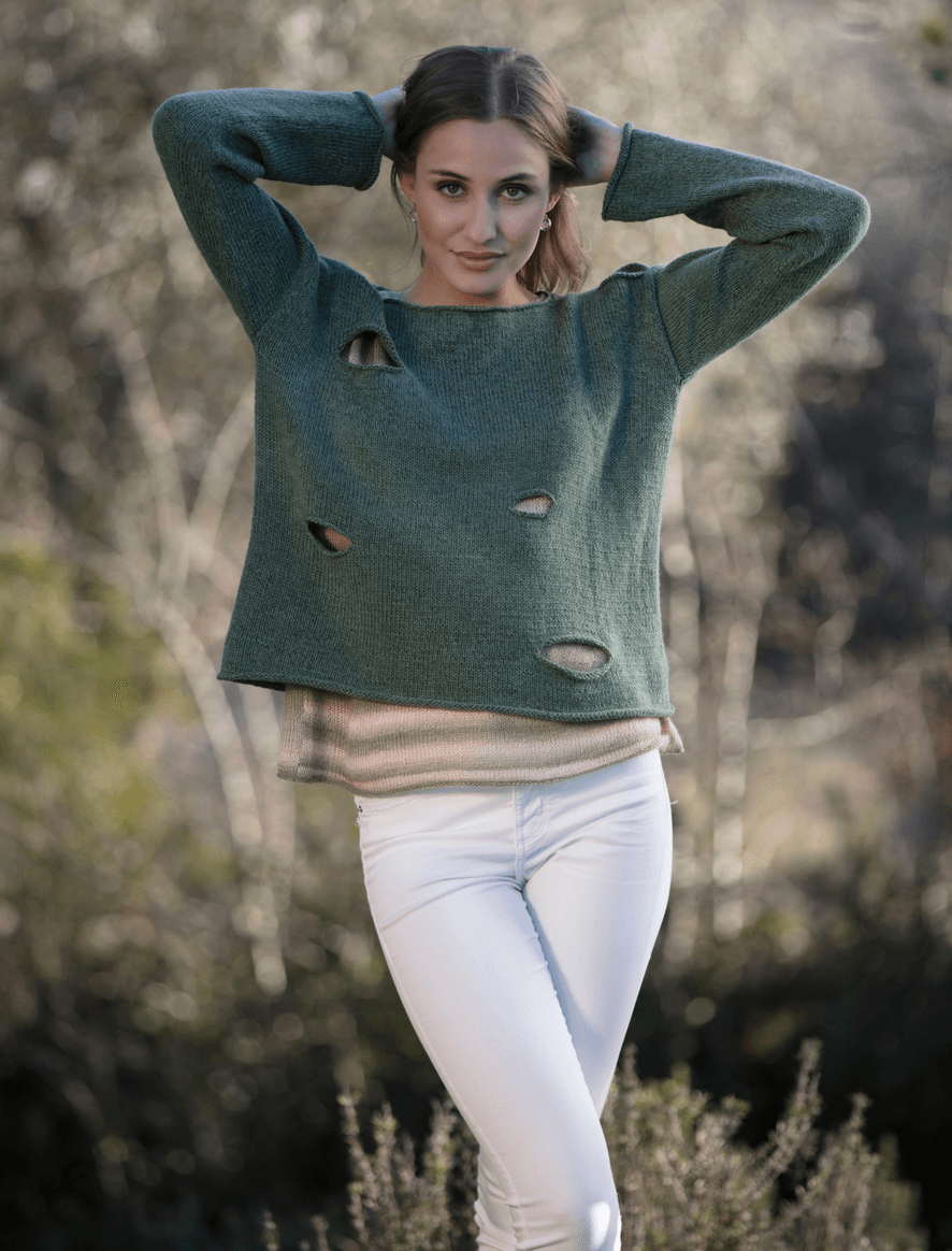 Belmonte sweater + Tea Cup top
