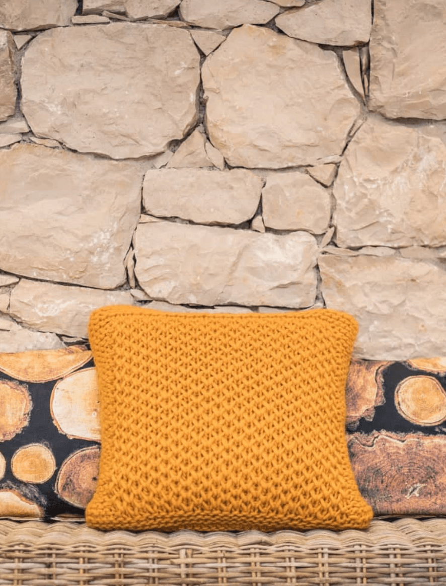 154 | Bulky Light mustard cushion