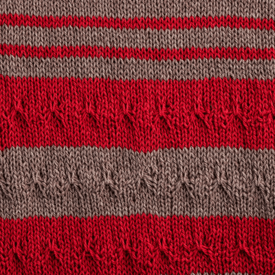 knitted swatch Jardim rosarios 4 yarn