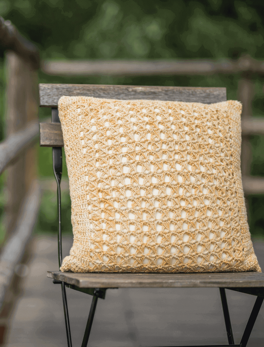119 | Yellow Damasco Cushion
