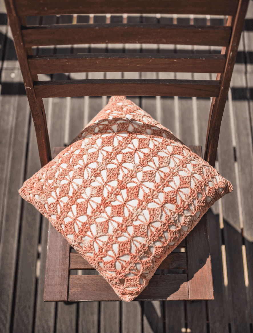 120 | Orange Damasco Cushion